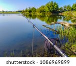 fishing on the lake | Shutterstock . vector #1086969899
