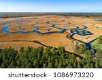aerial view over the engure...   Shutterstock . vector #1086973220