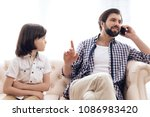 sad boy got upset because of...   Shutterstock . vector #1086983420