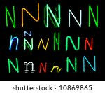 neon letters n collected from... | Shutterstock . vector #10869865