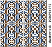 ceramic tile pattern colorful...   Shutterstock .eps vector #1086986996