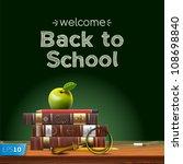 back to school  school books...   Shutterstock .eps vector #108698840