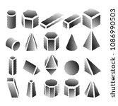 halftone isometric geomtric... | Shutterstock .eps vector #1086990503