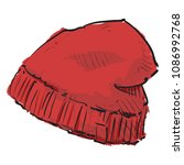 watercolor accessory. mens... | Shutterstock .eps vector #1086992768