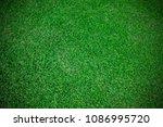artificial grass background | Shutterstock . vector #1086995720