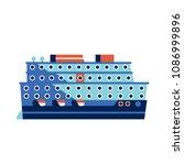 cruise ship or ocean liner... | Shutterstock .eps vector #1086999896