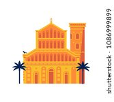 mediterranean classic cathedral ... | Shutterstock .eps vector #1086999899