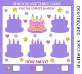 shadow matching game. find the... | Shutterstock .eps vector #1087001450