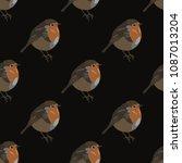 seamless geometrical polka dot... | Shutterstock .eps vector #1087013204