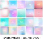 mega pack of 20 blurred... | Shutterstock .eps vector #1087017929