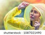 beautiful young girl wearing...   Shutterstock . vector #1087021490