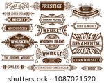 19 banners set. western style | Shutterstock .eps vector #1087021520