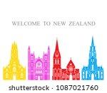 new zealand set. isolated new... | Shutterstock .eps vector #1087021760