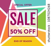 sale banner design template.... | Shutterstock .eps vector #1087024268