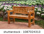 wood chair in the cabbage... | Shutterstock . vector #1087024313