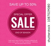 sale banner design template.... | Shutterstock .eps vector #1087029080