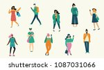 vector illustration of fashion... | Shutterstock .eps vector #1087031066