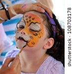 Pretty Girl With Face Painting...