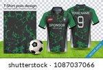 soccer jersey template  sport... | Shutterstock .eps vector #1087037066