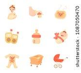 birth icons set. cartoon set of ... | Shutterstock . vector #1087050470