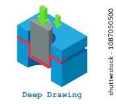 deep drawing metalwork icon.... | Shutterstock . vector #1087050500