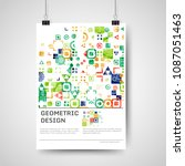 abstract colorful poster design ... | Shutterstock .eps vector #1087051463