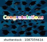 congratulation graduates with... | Shutterstock . vector #1087054616