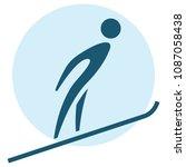 winter sport icons   ski... | Shutterstock . vector #1087058438