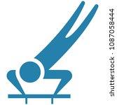 winter sport icon   skeleton... | Shutterstock . vector #1087058444