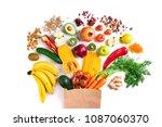 healthy food background.... | Shutterstock . vector #1087060370