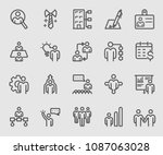 line icons set for human...   Shutterstock .eps vector #1087063028