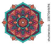 mandala. ethnic decorative...   Shutterstock .eps vector #1087064696