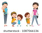 vector illustration of mother's ... | Shutterstock .eps vector #1087066136