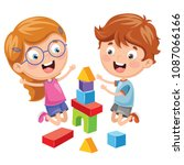 vector illustration of kid... | Shutterstock .eps vector #1087066166