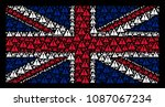 british flag pattern made of...