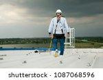 construction engineer wear... | Shutterstock . vector #1087068596