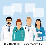 doctors and assistant in a... | Shutterstock .eps vector #1087070456