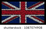 english flag concept done of... | Shutterstock .eps vector #1087074908