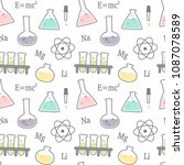 cute cartoon science and... | Shutterstock .eps vector #1087078589