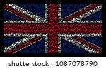 uk flag collage organized of... | Shutterstock .eps vector #1087078790