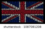 united kingdom flag mosaic... | Shutterstock .eps vector #1087081208
