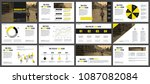 yellow and black business... | Shutterstock .eps vector #1087082084