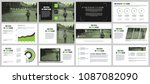 green and black business... | Shutterstock .eps vector #1087082090