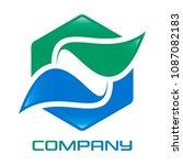 leaves and letter s logo    Shutterstock .eps vector #1087082183