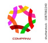 abstract round logo from...   Shutterstock .eps vector #1087082240