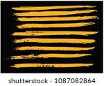 straight lines of paint brush... | Shutterstock .eps vector #1087082864