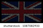 british state flag collage... | Shutterstock .eps vector #1087082933