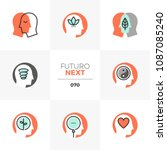 modern flat icons set of... | Shutterstock .eps vector #1087085240