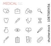 medical  medicine gray line... | Shutterstock .eps vector #1087085456