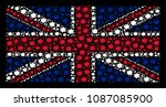 british flag mosaic composed of ... | Shutterstock .eps vector #1087085900